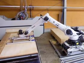 Robot Manipulador de tableros de madera